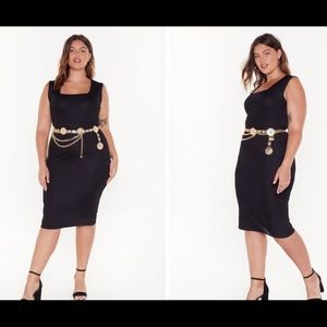 Nasty Gal Fit right in midi dress size 16